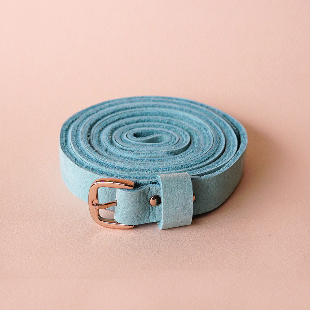 Renske Versluijs - double belt leather mint