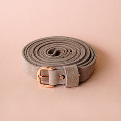 Renske Versluijs - double belt leather taupe