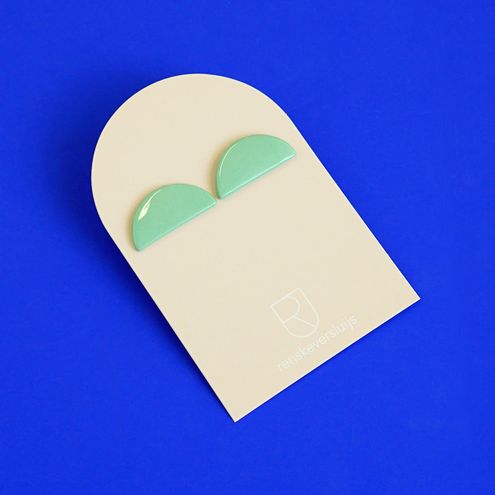porcelain earrings mezzo mint - renske versluijs