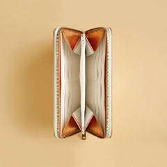 Renske Versluijs - leather wallet copper