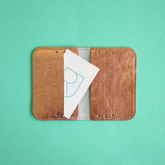 Renske Versluijs - leather card sleeve copper
