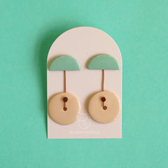 Renske Versluijs - earrings Ombrello mint-nude