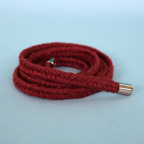 braided belt deep red - renskeversluijs