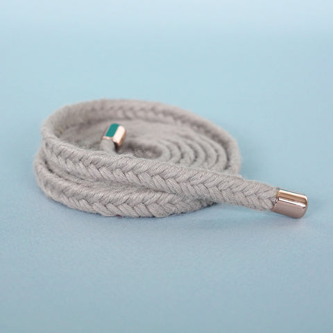 braided belt light grey - renskeversluijs