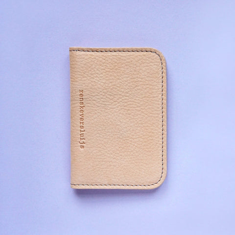 leather card sleeve nude - renskeversluijs