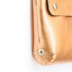 leather handbag copper - Renske Versluijs