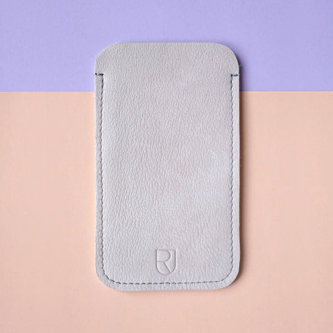 leather iphone sleeve sand - renskeversluijs