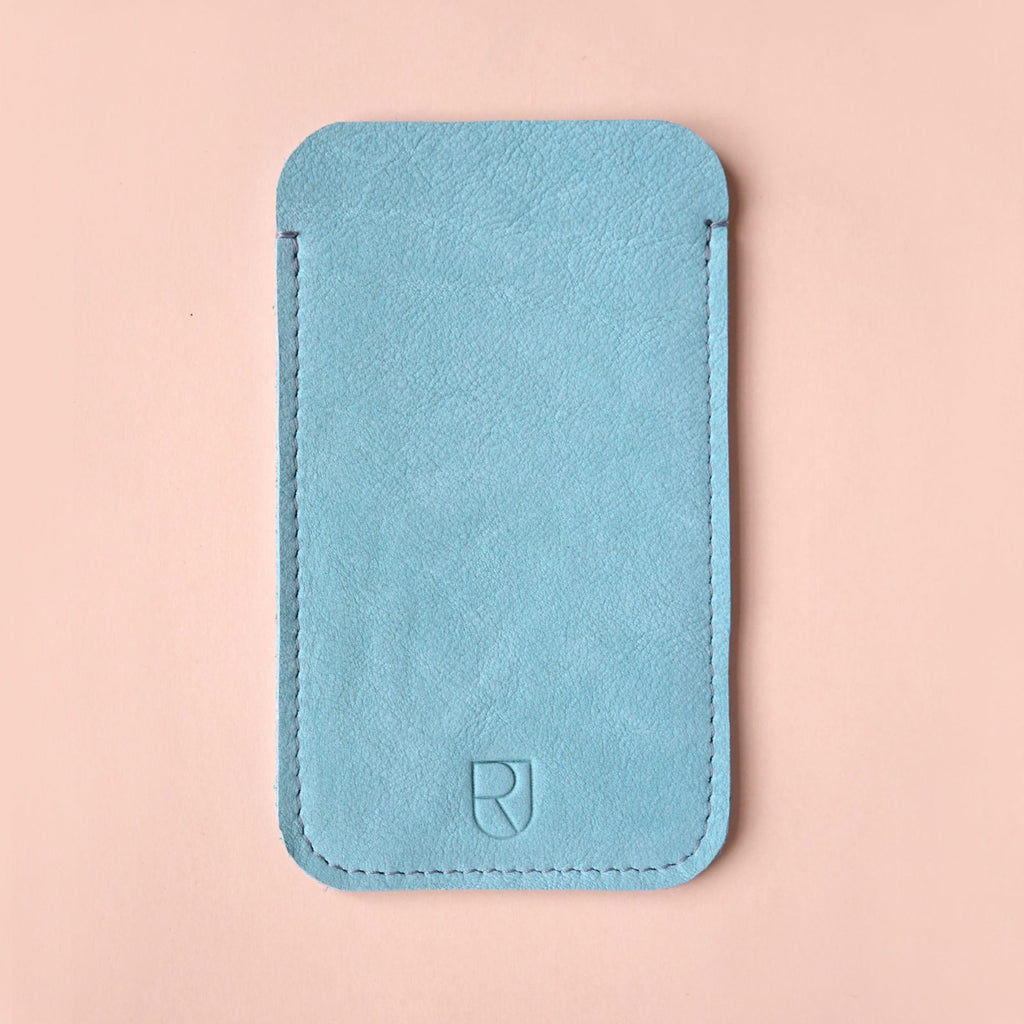 leather iPhone sleeve mint - renskeversluijs
