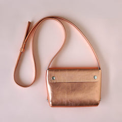 copper leather handbag - renskeversluijs