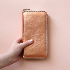 renskeversluijs - leather wallet copper
