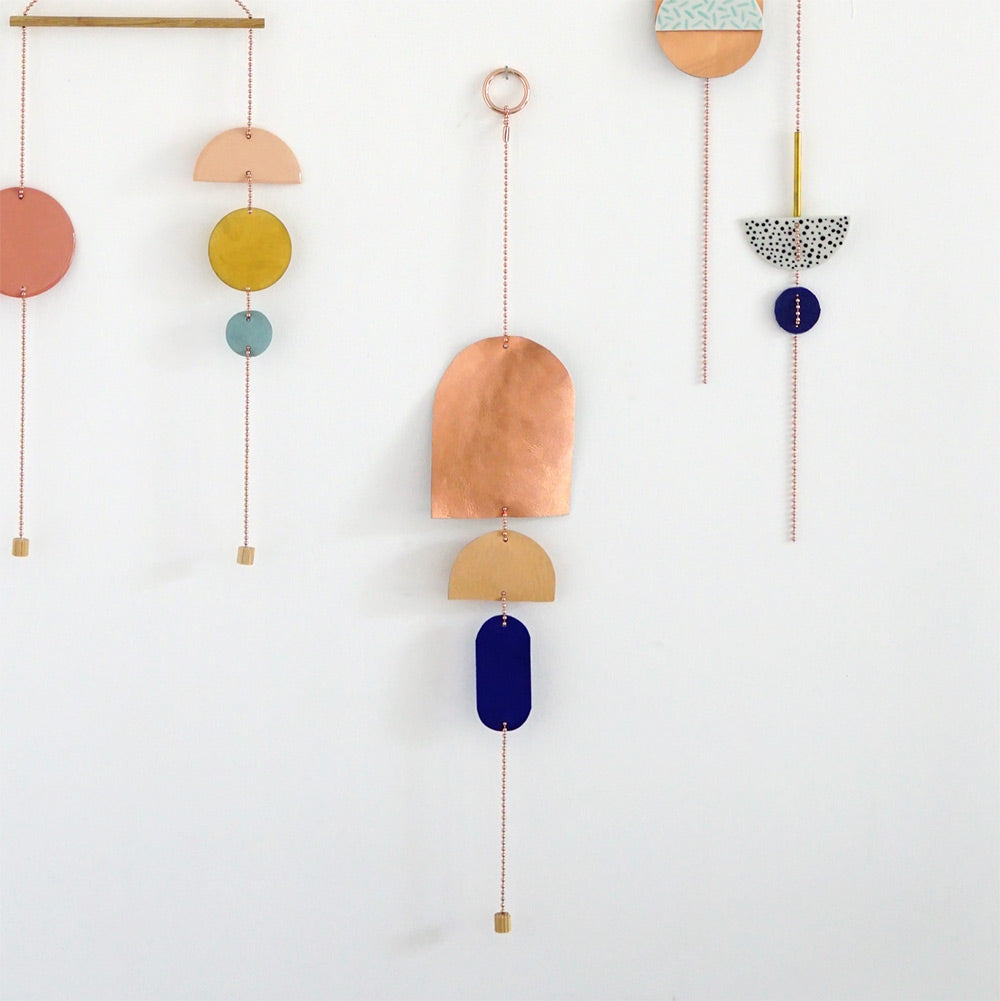 leather wall jewelry Tre colore