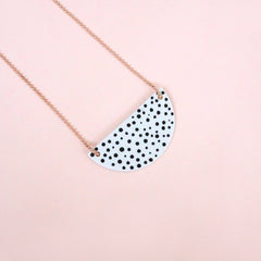 porcelain necklace Rosa dots - Renske Versluijs