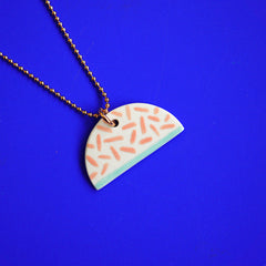 renske versluijs - porcelain necklace mabel red stripes