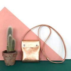 small leather handbag copper - renskeversluijs