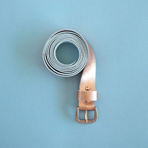 leather belt copper - renskeversluijs