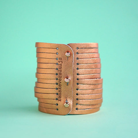 leather bracelet copper - renskeversluijs