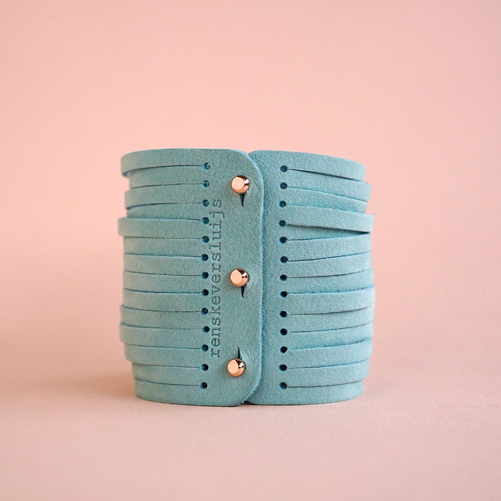 leather bracelet mint - renskeversluijs