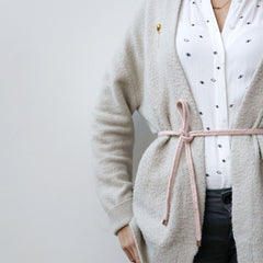 braided belt soft pink - renskeversluijs