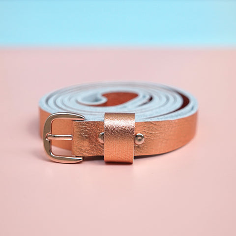 leather double belt copper - renskeversluijs