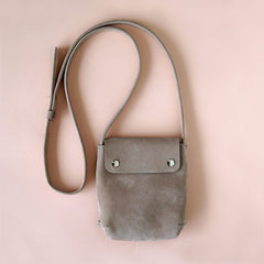 small leather handbag taupe - Renske Versluijs