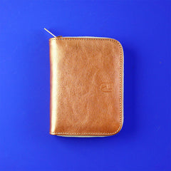 leather wallet copper - renske versluijs