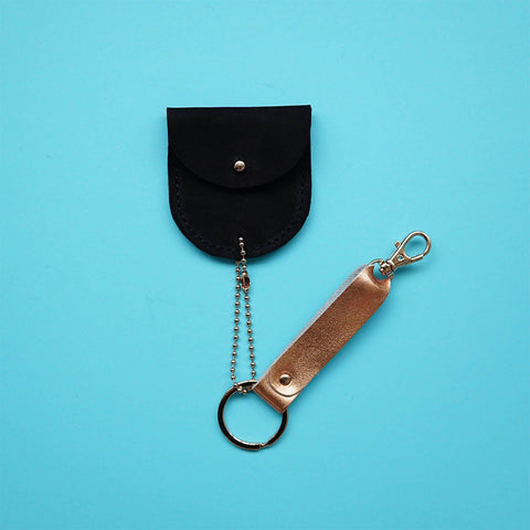 leather keychain black - renske versluijs