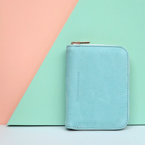 small leather wallet mint - renskeversluijs