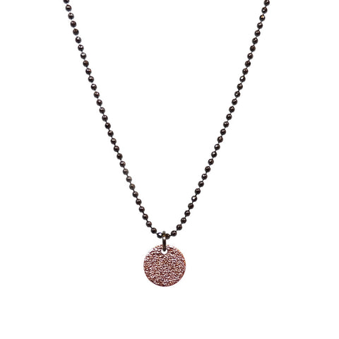 Single Stardust Necklace in Rose and Black