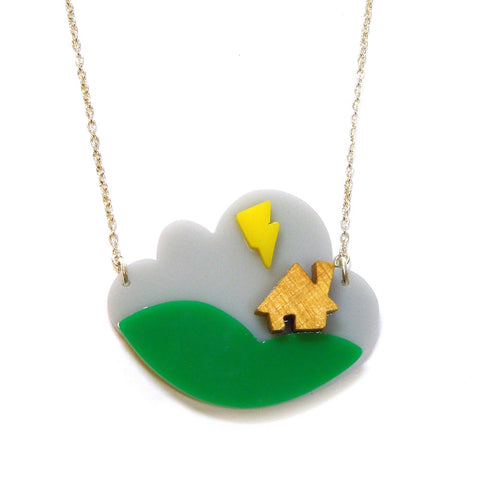 House in a Storm Necklace