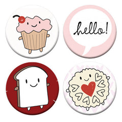 Cakeify & Friends Badge Set of 4