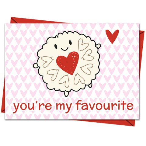 Kawaii Jammie Dodger 'You're My Favourite Brooch'.