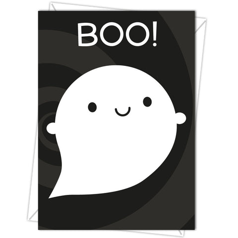 Boo! Kawaii Little Ghost Card