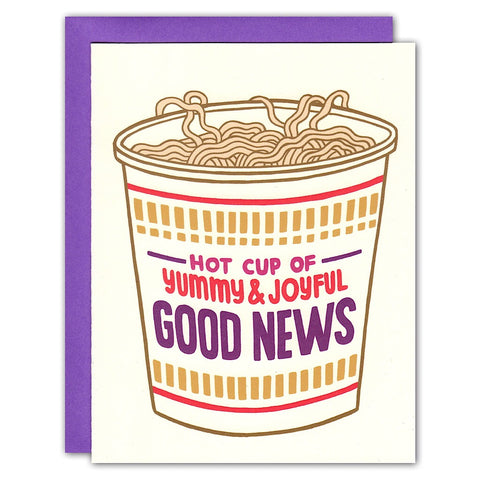 Hot Cup of Good News Noodle Card