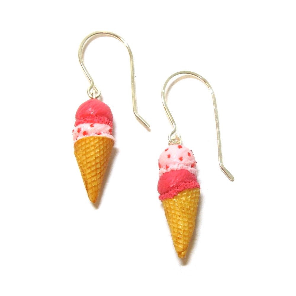 Double Scoop Strawberry Earrings