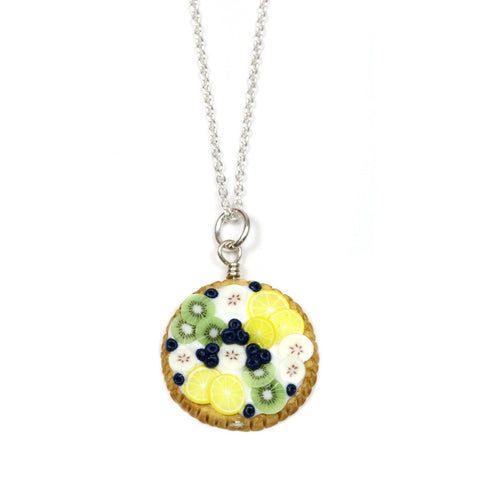 Blueberry and Banana Tart Necklace
