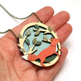 Handheld Image of Running Fox Necklace