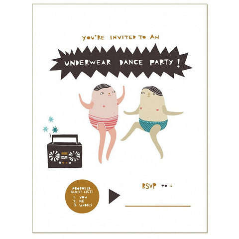 Underwear Dance Party Card