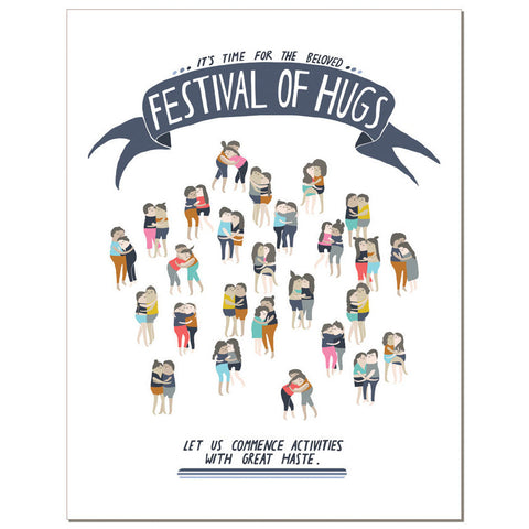 Festival of Hugs Illustrated Card