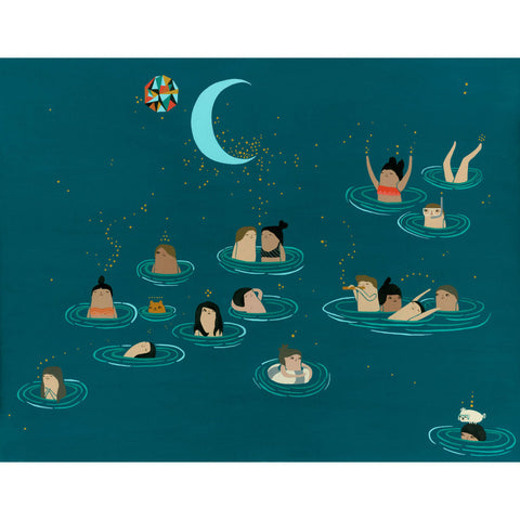 Night Swimmers Print on Matte and Archival Heavyweight Paper