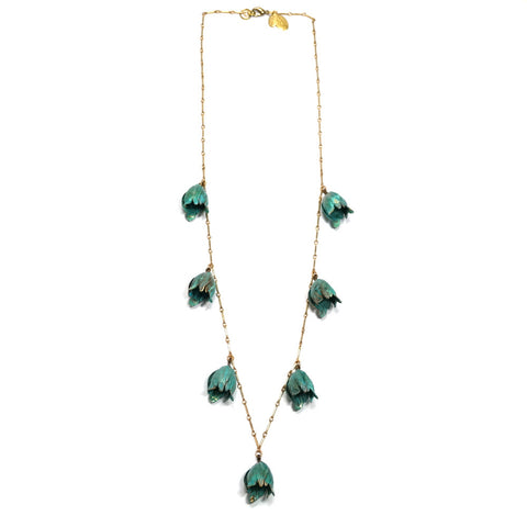 Verdigris Tulip Necklace
