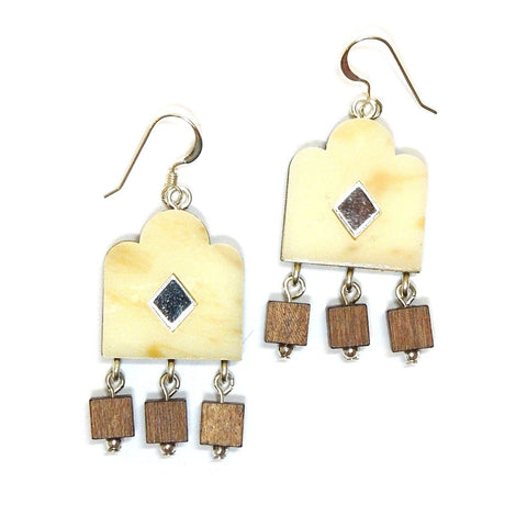 Garden Window Earrings - Horn