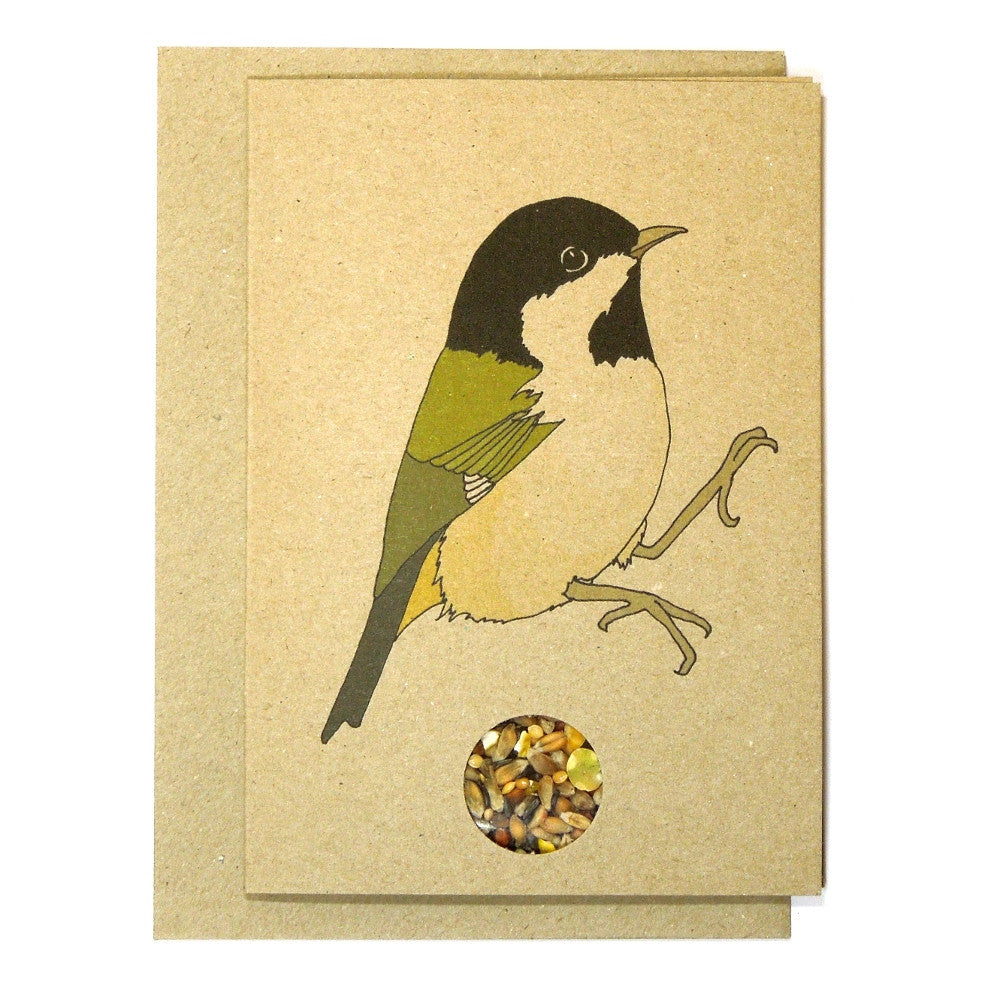 Coal Tit Bird Seed Card