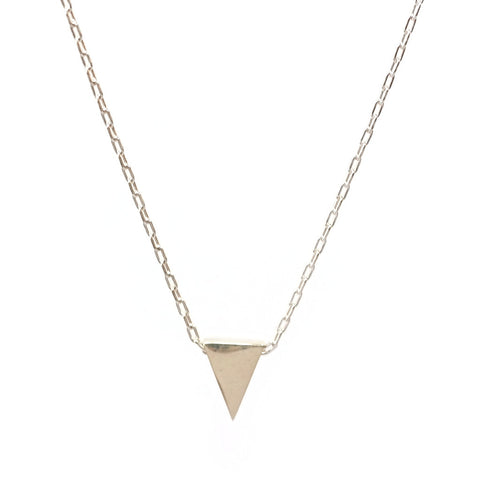 Isoceles Triangle Necklace in Silver