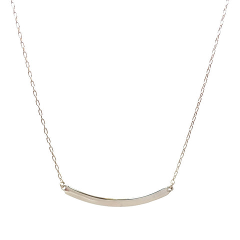 Small Arc Necklace in Silver
