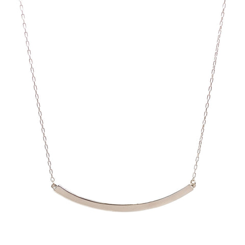 Medium Arc Necklace in Silver