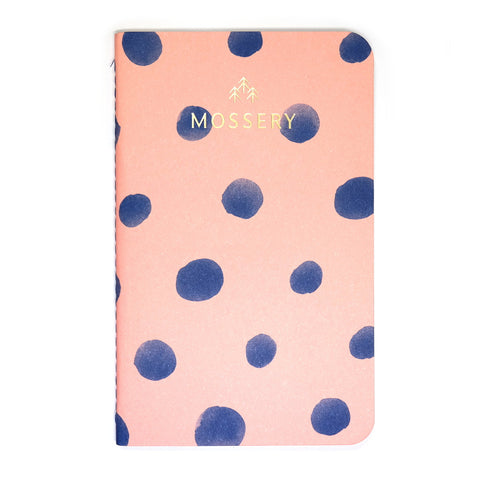 Pink polka pocket notebook