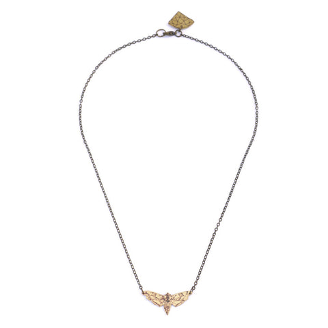 Nature Girl Necklace - Moth