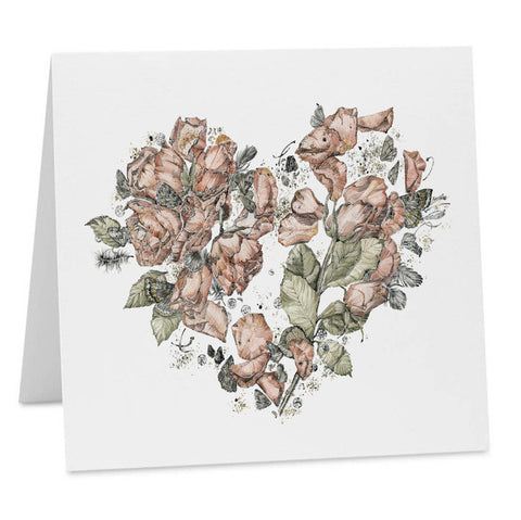 Oh Floral Heart Card