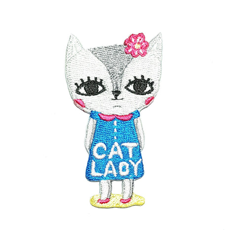 Embroidered Patch of a cute Cat Lady by Bel's Art World