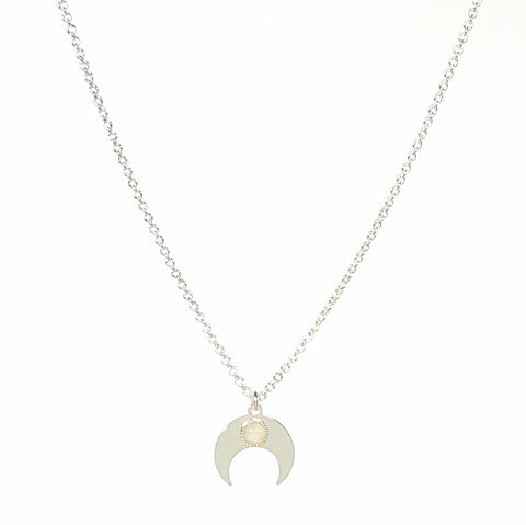 Moon Necklace in Silver